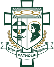 seton catholic central crest white - Seton Catholic Central
